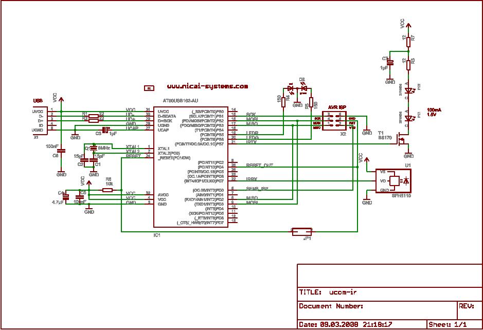 nicai-systems - Programmieradapter UCOM-IR